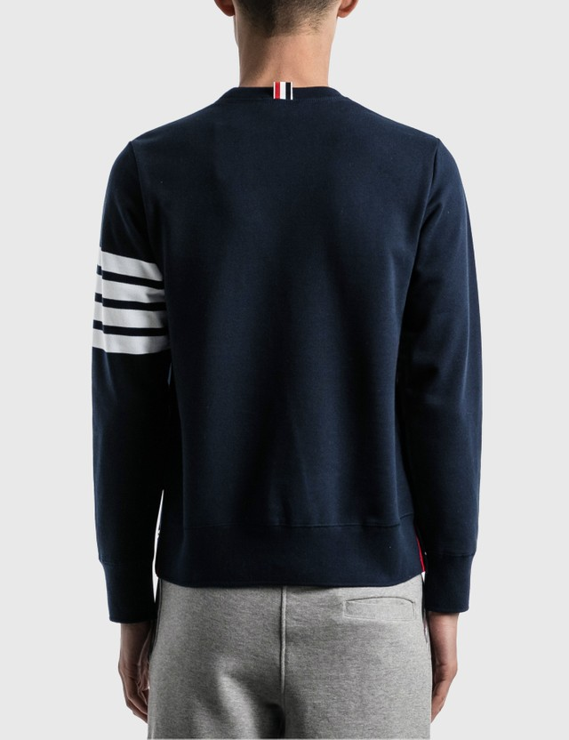 Thom Browne 4-Bar Classic Crewneck Sweatshirt Navy Men