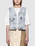 MM6 Maison Margiela Denim Vest With Crossbody Pocket Picture