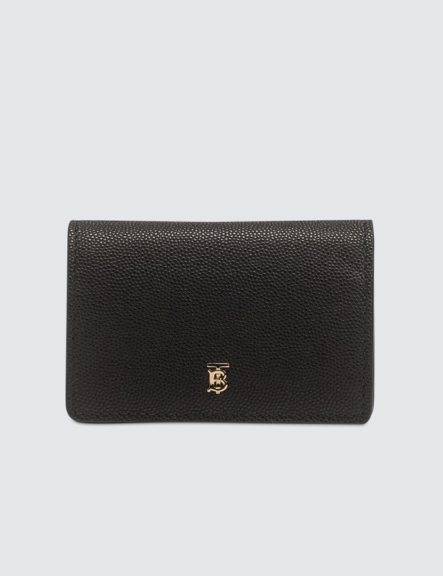 Burberry Grainy Leather Card Case with Detachable Strap