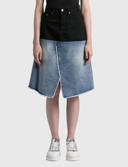 MM6 Maison Margiela Patched Denim Skirt