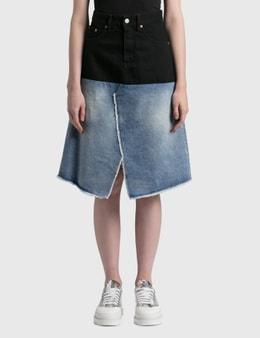 MM6 Maison Margiela Patched Denim Skirt