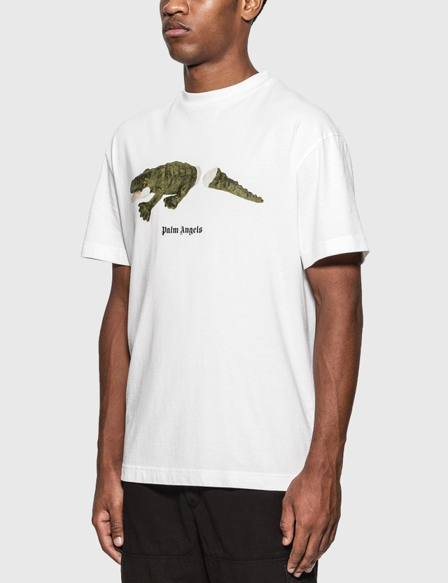 Palm Angels Croco T-Shirt White Green Men