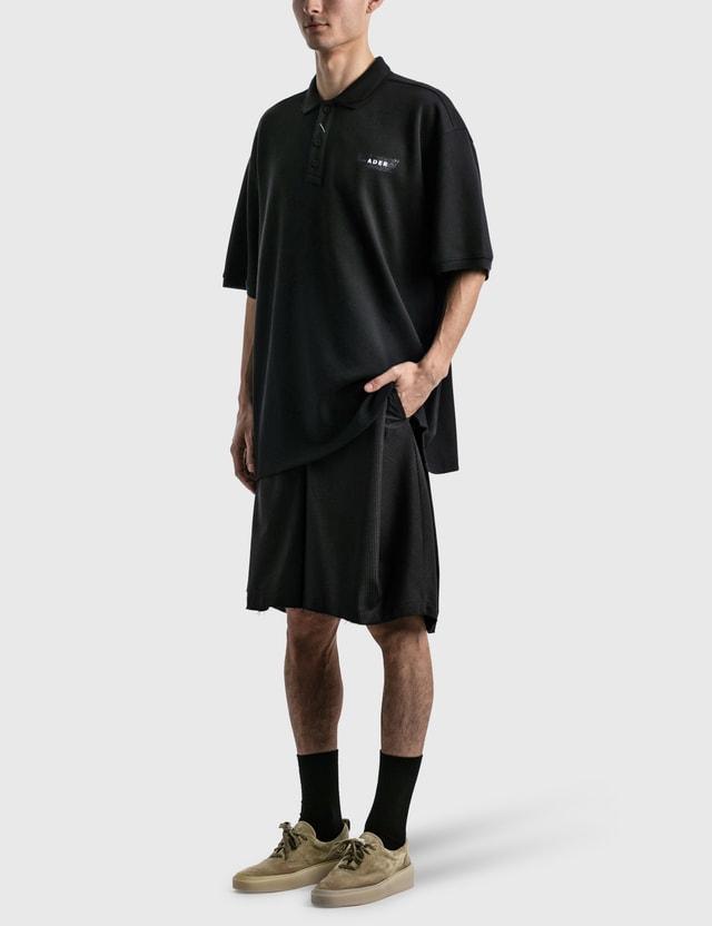 Ader Error Duct Tape Logo Polo Shirt Black Men
