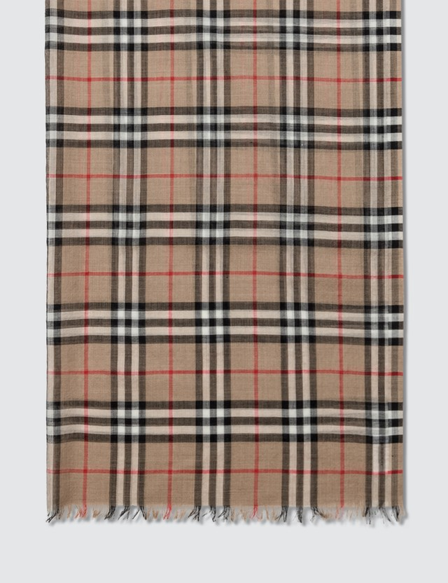 Burberry Check Gauze Scarf