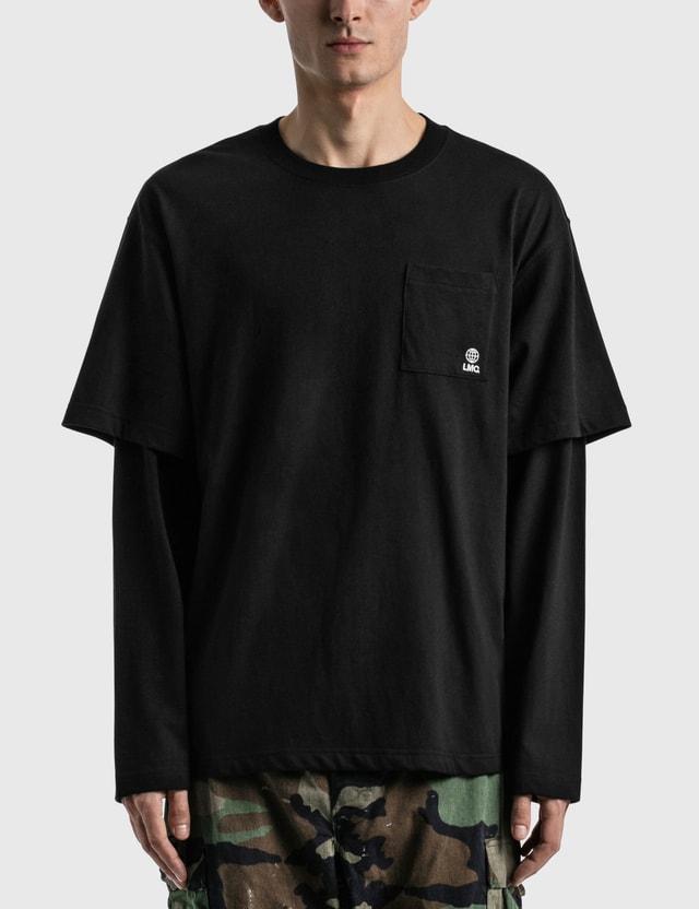LMC LMC Workroom Layered Long Sleeve T-shirt Black Men
