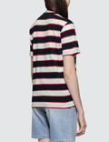 MSGM Nautical Striped Short Sleeve T-shirt