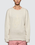 JW Anderson Melange Jersey Cutout Jwa Anchor Sweat Top Picture