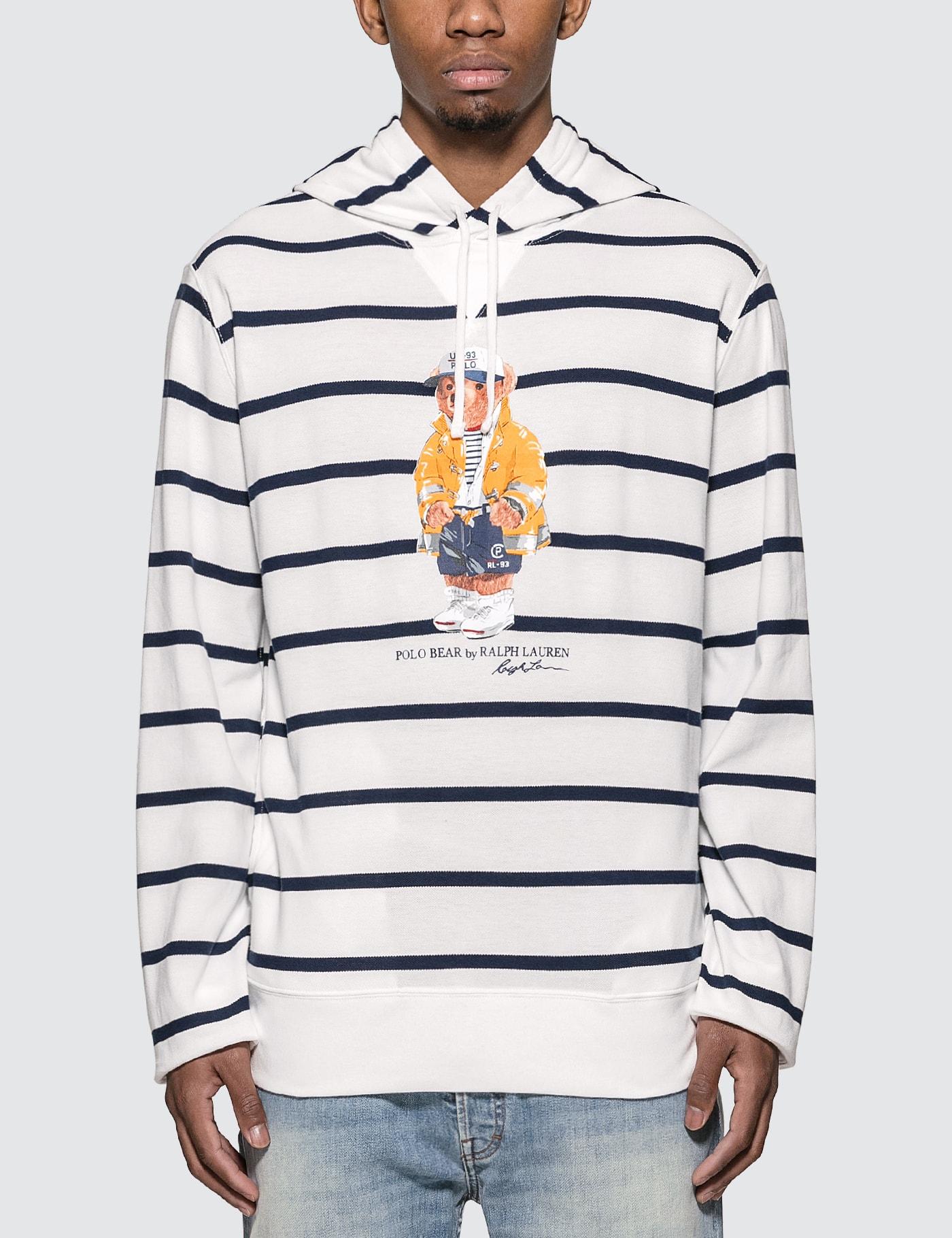 Polo Bear Stripe Hoodie