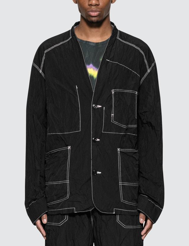 Sasquatchfabrix. Nylon Wa-Neck Jacket Black Men