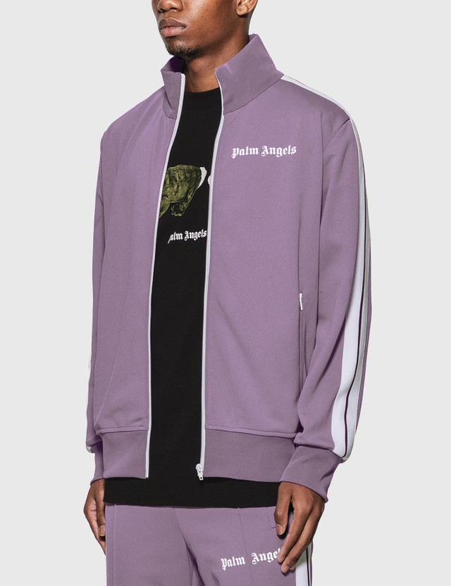 Palm Angels Classic Track Jacket Lilac White Men