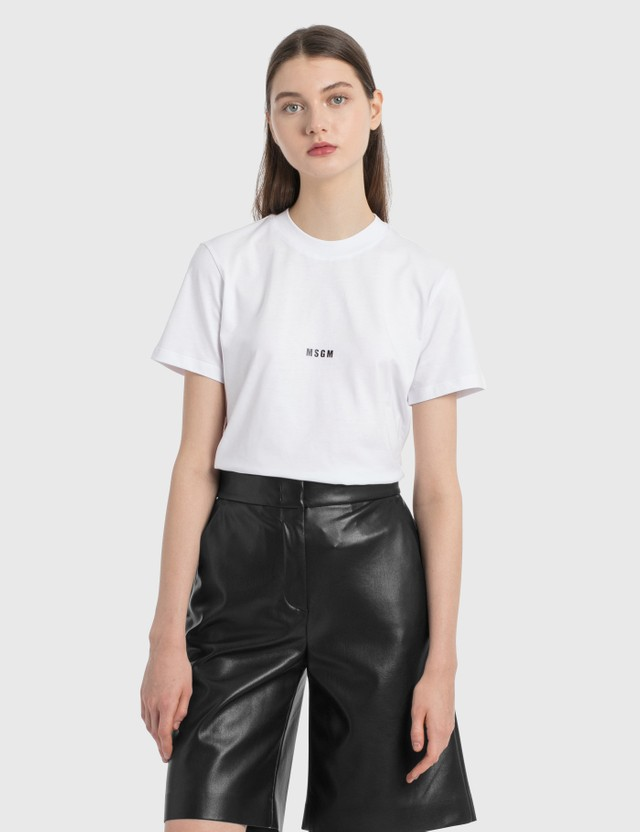 MSGM Micro Logo T-Shirt Optical White Women