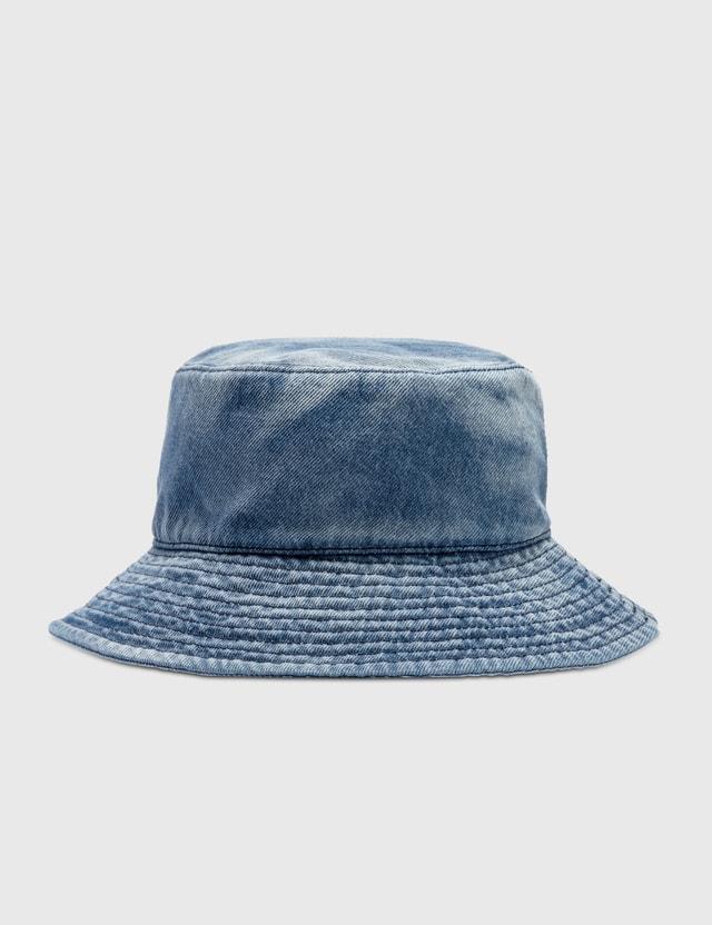MM6 Maison Margiela 6 Logo Denim Bucket Hat