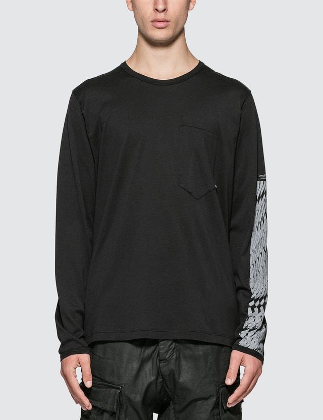 Stone Island Shadow Project Printed Long Sleeve Pocket T-Shirt
