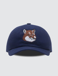 Maison Kitsune Par Rec Cap 6p Large Fox Head Embroidery Picture
