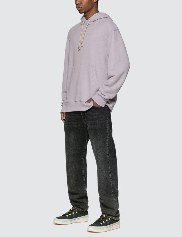 Acne Studios Reverse Label Hoodie Lilac Purple Men