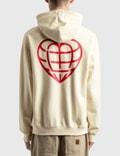 LMC Heart Globe Standard Hoodie White Men