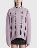 TheOpen Product Vertical Cut-out Knit Top Picture