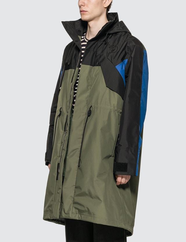 Loewe ELN Fleece Lined Parka Black/khaki Gr Men