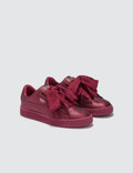 Puma Basket Heart Holiday Glamour Pre-School Ribbon Red/rose Gold Kids