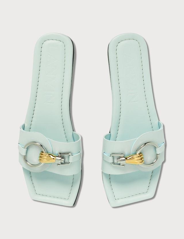 Lanvin Flat Jeweled Sandal 201 Lanvin Blue Women