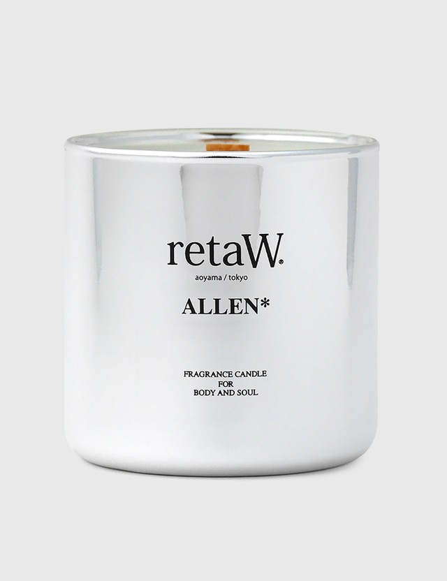 Retaw ALLEN* Metallic Silver Fragrance Candle Black Unisex