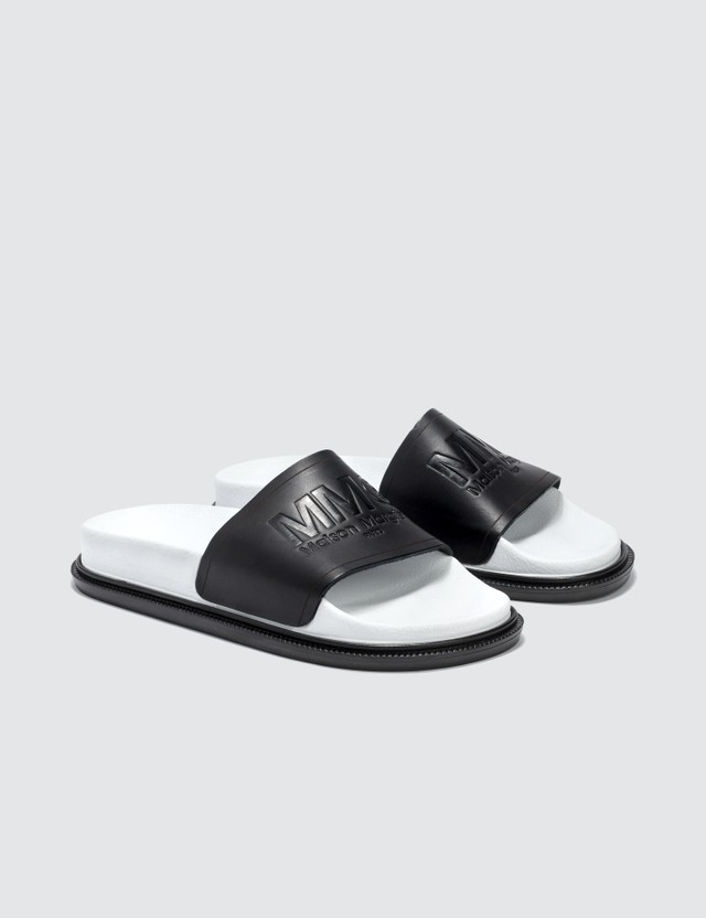 MM6 Maison Margiela Leather Slippers