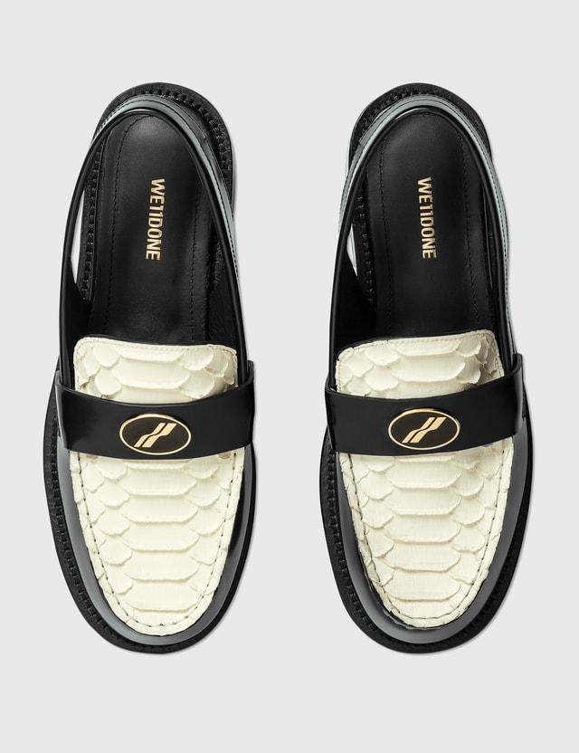 We11done Loafer Slingback Black/white Women