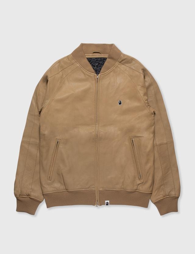 BAPE Bape Leather Jacket Brown Archives