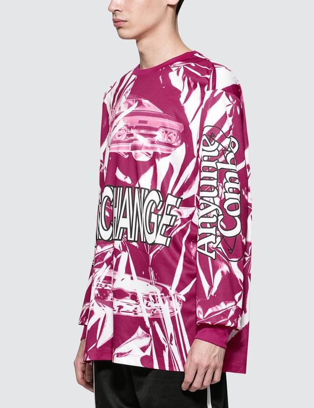 CALVIN KLEIN JEANS EST.1978 Interchange Print L/S T-Shirt Fuchsia / Multi Men
