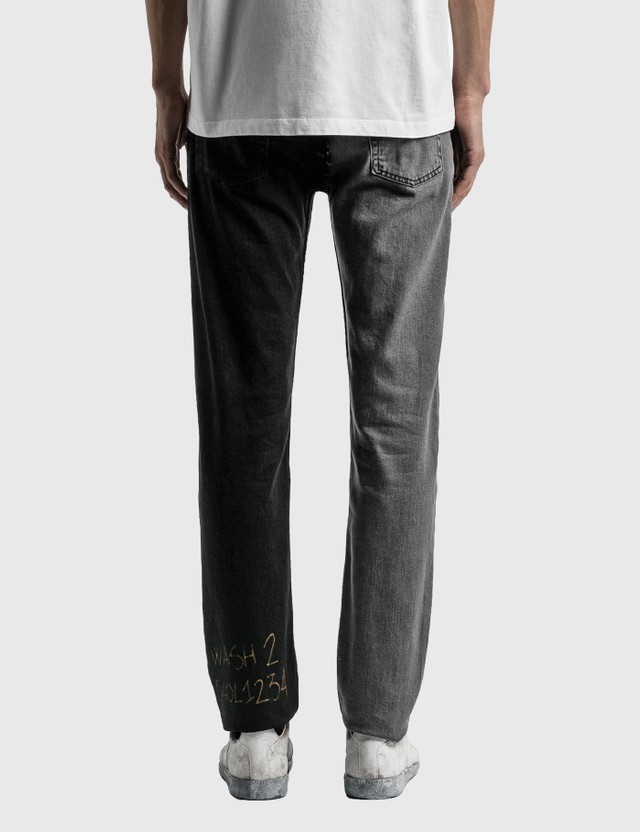 Maison Margiela Vintage Wash Jeans Two Tones Of Black Men
