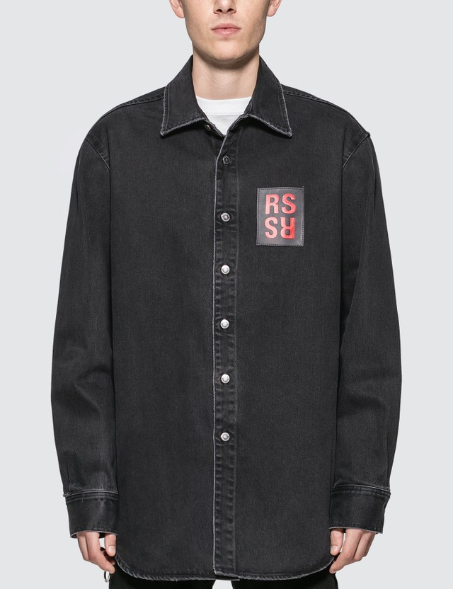 Raf Simons Logo Denim Shirt