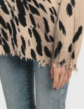 R13 Cheetah Oversized Sweater