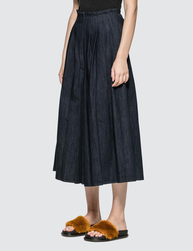 MM6 Maison Margiela Denim Pleated Skirt Pants