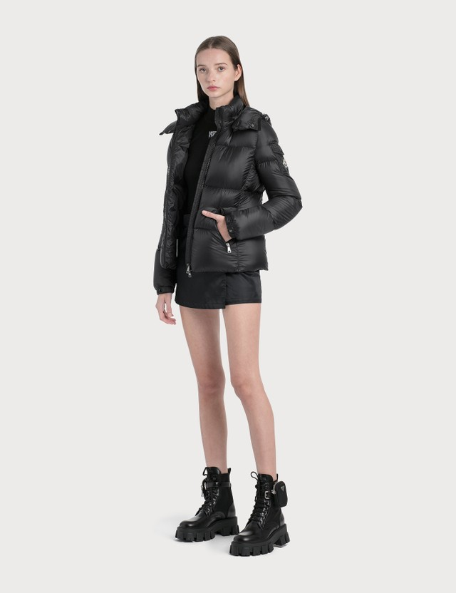 Moncler Down Jacket With Detachable Hood Black Women
