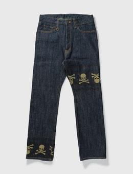 Mastermind Japan Mastermind Japan Unwashed Gold Skull Jeans