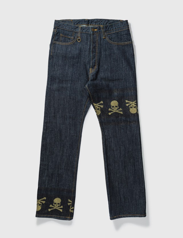 Mastermind Japan Mastermind Japan Unwashed Gold Skull Jeans Blue Archives