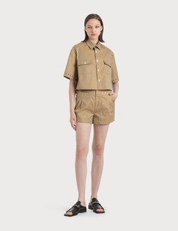 KOCHÉ High Waist Eyelette Shorts