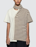 JW Anderson Striped Jersey Tee With Draped Scarf 사진