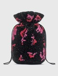 Ganni Hand Beaded Drawstring Bag Picture