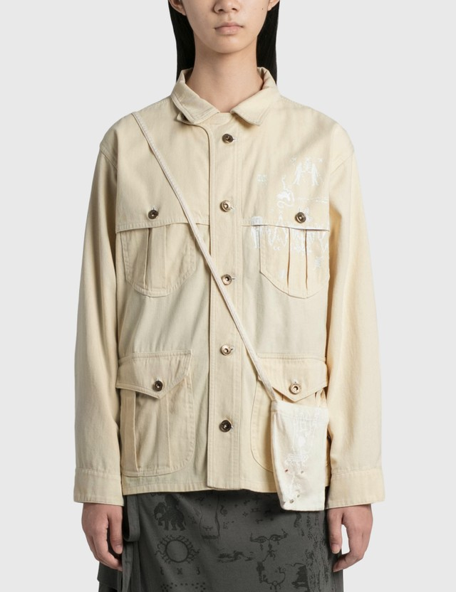 Hyein Seo Field Jacket With Pocket Bag Ivory Women