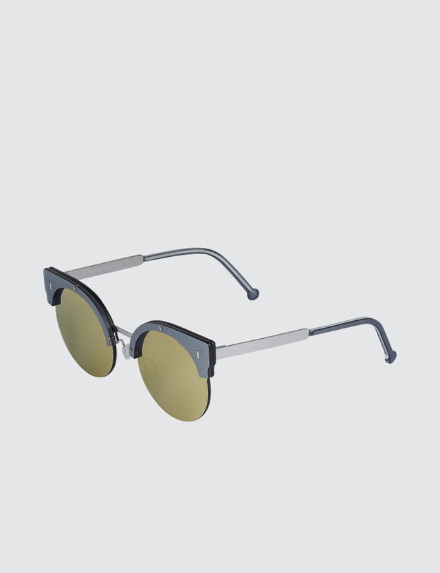Super By Retrosuperfuture Era Gold Sunglasses