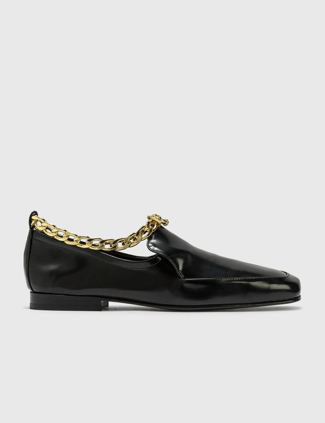 BY FAR Nick Black Semi Patent Leather Shoes Black Women
