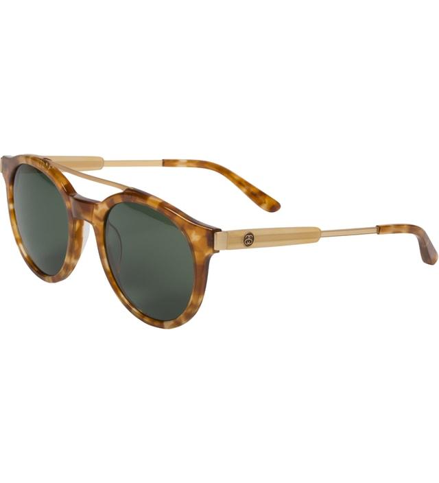 Stussy Tortoise/Green Luca Sunglasses