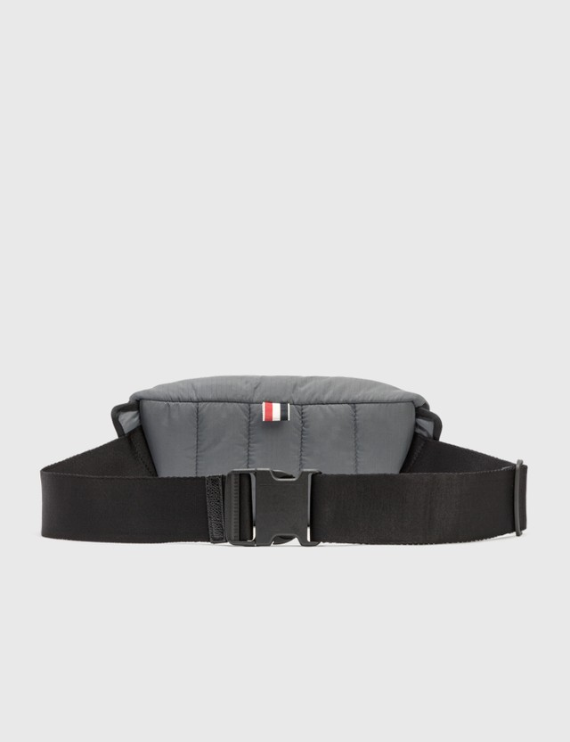 Thom Browne Bumbag with RWB Webbing Med Grey Men