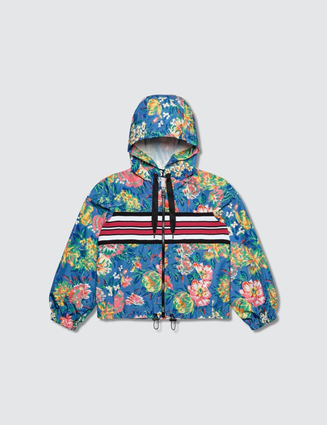 MSGM Floral Ripstop Panel Jacket