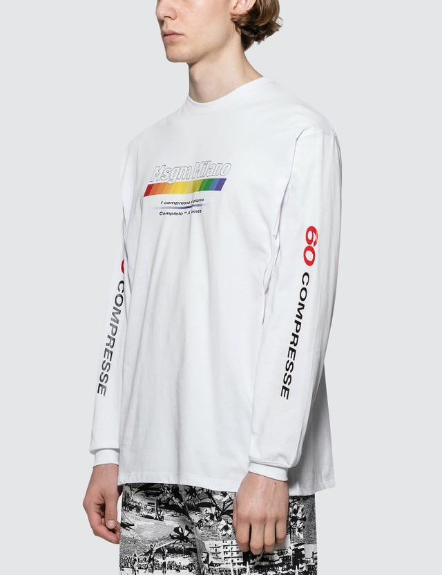 MSGM Vitamin Print L/S T-shirt