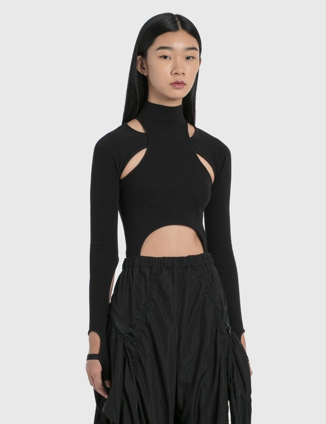 Hyein Seo Jersey Top With Sleeves