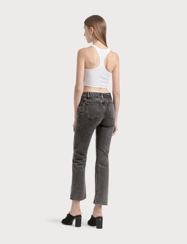 Off-White Cropped Leg Jeans =e114 Women