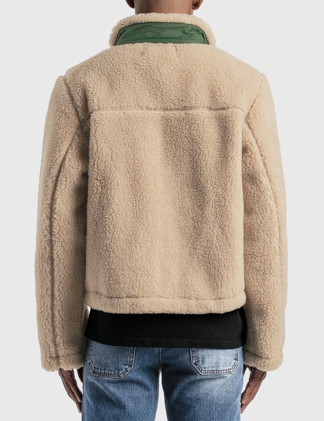 Reese Cooper Sherpa Fleece Jacket Cream Men