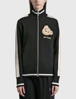 Palm Angels Bear Head Knit Track Jacket